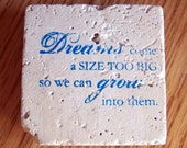 magnet, natural stone, tumbled tile  - inspirational quote