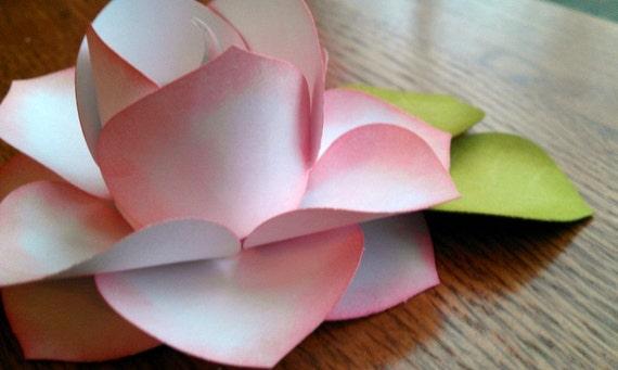 paper flower, paper roses, LED tea light -- made to order