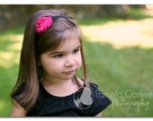 Hot pink and black polka dot shabby chic baby headband: Newborn, Infant, Toddler, Girl
