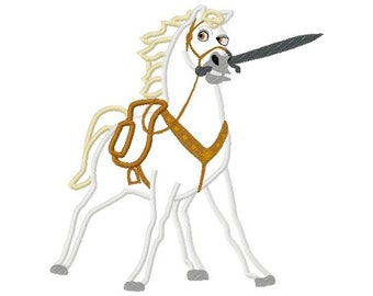 Max horse applique design instant download 789