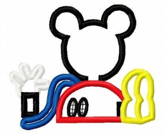 Mouse clubhouse applique design instant download  893