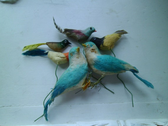 Lot of 6 Vintage Birds