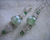 Beautiful Swarovski and Lampwork Bead Earrings