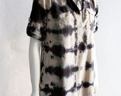 hand dyed dress shirtwaist cotton-rayon/ safari shadows /