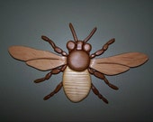 Handmade Bumble Bee Wall Decor made with Recycled Upcycled Wood makes a Unique Wedding gift
