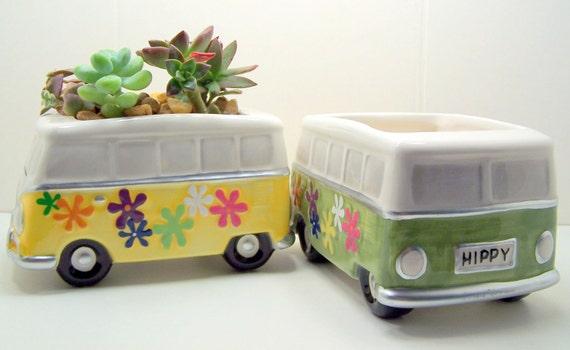 Succulent plantador Hippy Van DIY flashbacks kit 1970