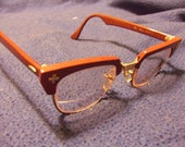 Eye Glasses Vintage Brown 1950s Retro Mid-century Style Mad Men