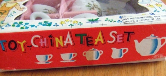 Toy China Tea Set Doll Size Original Box