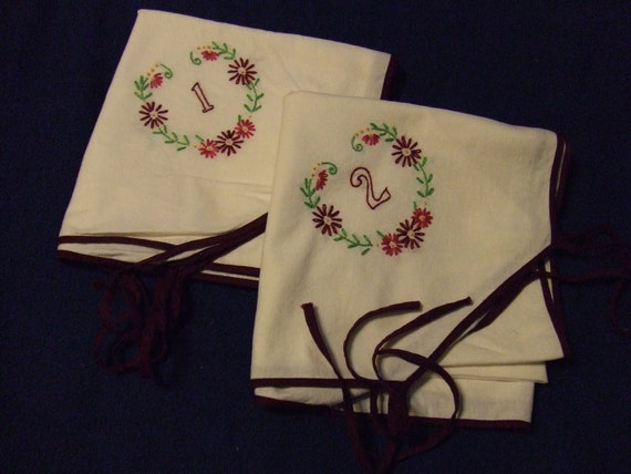Table Cloth Card Table Cover Embroidered Numbers