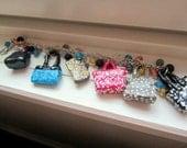 Custom Purse Charm Bracelet, You Choose Color and Design