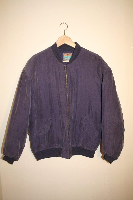 1980 S Silk Purple Bomber Jacket