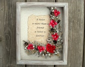 Custom Gift For Sister Distressed Wood Picture Frame Personalized Present For Sister Birthday Wedding Christmas