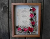 I Love You Sweetheart Picture Framed Artificial Flower Arrangement Present For Wife Birthday Anniversary Gift For Valentines day