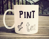 Pint of tea mug - hand drawn by Mr Teacup