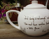 Personalised Literary tea pot - quote of your choice