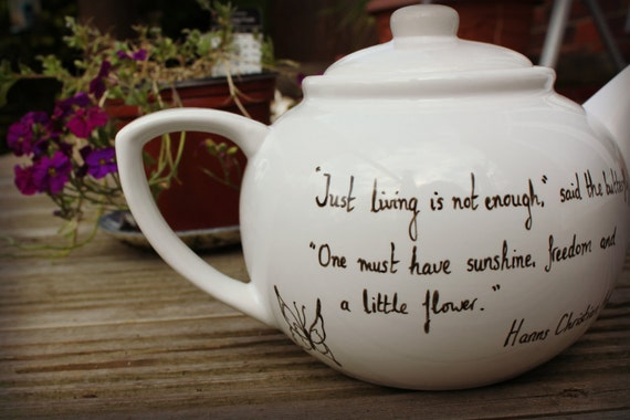 Literary tea pot - quote of your choice