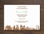 Pulp Wedding - Printable Save the Date (New York Skyline)