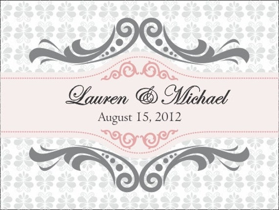 50  4x3  Wedding Favor / Welcome Bag Labels/Stickers