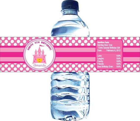 Items similar to 50 Kids Sticker Labels, Princess Water Bottle ...