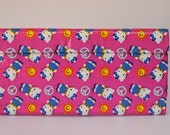 Duct Tape Wallet - Clutch - Purse -Billfold - 7 Pocket with Clear Window ID Holder - Kitty Peace