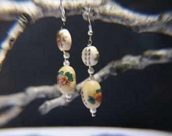 Asian Floral Earrings