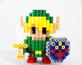Legend of Zelda Link Perler Beads 3d figure