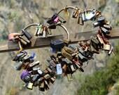 Locks of Love, Via dell'Amore, Path of Love, Cinque Terre, Italy, 8 x 8, Fine Art, Photograph, romance, romantic, love, heart, travel, photo