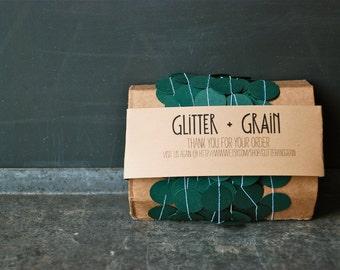 25' Paper & Thread Garland: Emerald