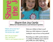 Share the Joy Cards - Reward and Behavior Modification for Children (PDF files)