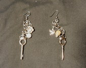 Castle Key Chain Earrings