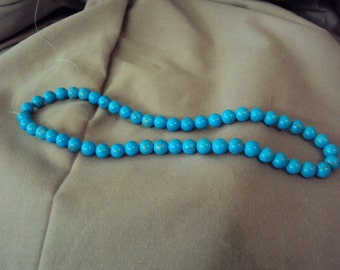 Dyed Blue Howolite Bead Strand