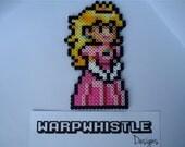 Princess Peach - Super Mario Bros Perler Bead Sprite