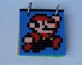 Mario and Luigi Pixelated Perler Bead Notepad