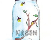 A Fond Memory - Mason jar giclée print