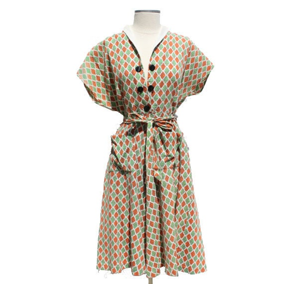 40s dress 1940s 50s vintage day clothing by wethelivingvintage