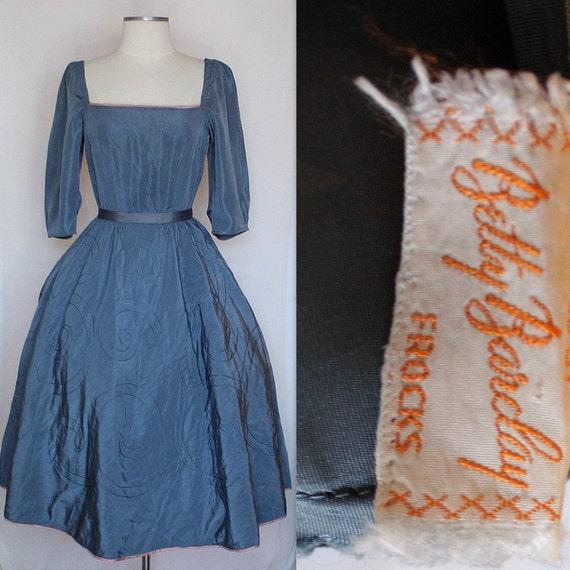 40s Dress 1940s Full Skirt Formal Dress