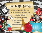 Mad Hatter Tea Party Invite RESERVED for KIM