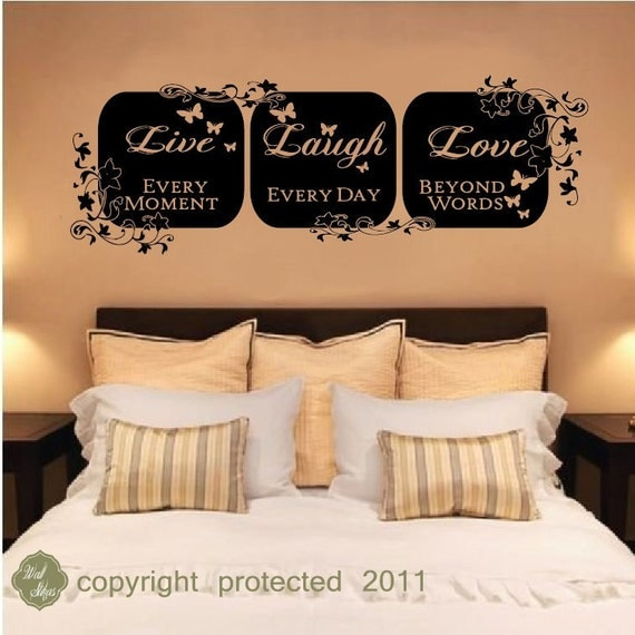 Items similar to vinyl wall decal sticker live laugh for Live laugh love wall art