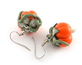 Pumpkin Earrings Halloween Jewelry  Polymer Clay Earrings Halloween Earrings