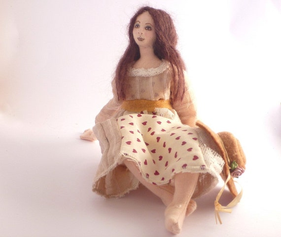 Daydream - art cloth doll soft sculpture fantasy
