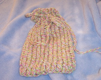 Pastel Knit Bag / Sachet / Pouch