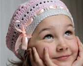 PDF pattern for Crocheted beret style hat for kids (3-6 yo)