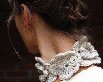 "Crochet Neckwarmer ""Lily"" -  PDF PATTERN"