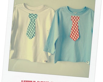 Little boys tie tshirt - SIZE 2 Twins / combo