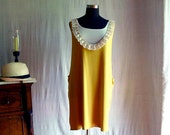 Mustard tank dress - tshirt dress halter dress in cotton jersey