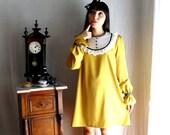Mustard bib dress - Alice in Wonderland Collection - Limited Edition