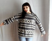 Norwegian sweater tshirt in knitted jersey - One size