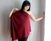 Burgundy off-shoulder top in jersey - Size XS/S