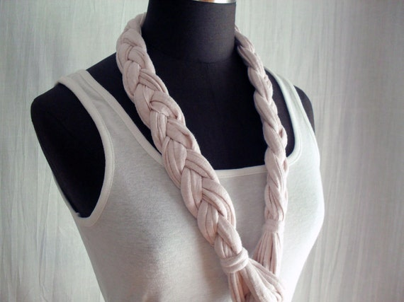 Pink belt-necklace - bohemian chic -
