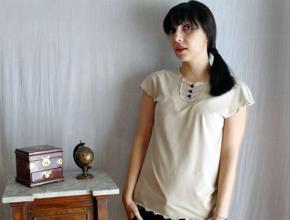 Reserved - Sand short sleeved tshirt  - Size M